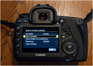 Connect Canon 6d Mark ii connect to computer - activate wifi option